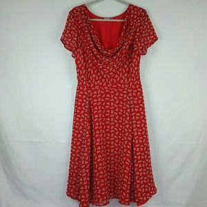 Eshakti red pattern dress